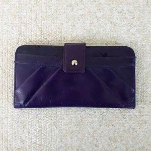 HOBO International Purple Leather BiFold Wallet